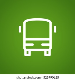 bus icon flat .