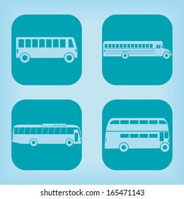 Bus icon - four variations
