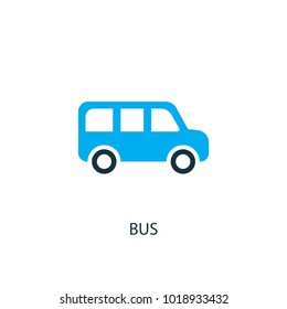 Bus icon. Logo element illustration. Bus symbol design from 2 colored collection. Simple Bus concept. Can be used in web and mobile.
