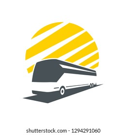 bus icon logo silhouette, great picture.