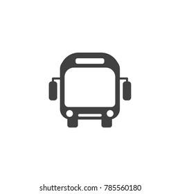 Bus icon or symbol, public travel