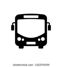 Bus icon symbol vector. on white background