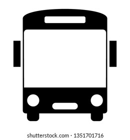 Bus icon symbol vector. on white background - Vector
