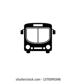 Bus icon symbol vector on white