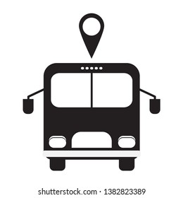 Bus icon symbol vector. on white background
