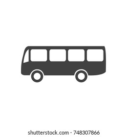 Bus icon, transport vector, solid logo, flat style