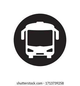 バスアイコン、バスベクター画像アートイラストテンプレートデザイン