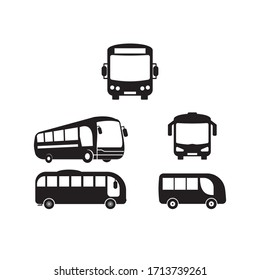Bus Icon, Bus Vector Art Illustration template design