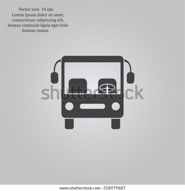 Bus icon, vector illustration. Flat design style