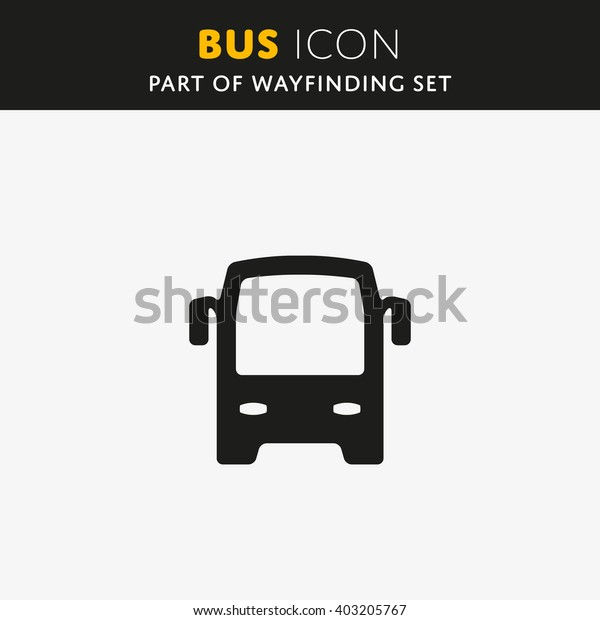 Bus icon, vector illustration. Flat design style.