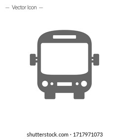 Bus icon. Vector illustration isolated on a white background.