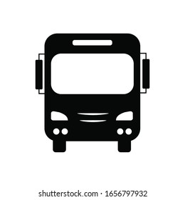 bus icon vector isolated on white background