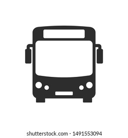 Bus icon vector sign isolated on white background. Bus symbol template color editable