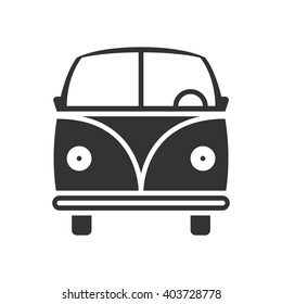 Bus icon vector, solid illustration, pictogram isolated on white