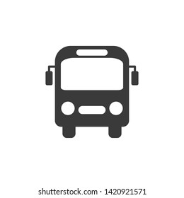 Bus icon vector. Bus solid logo illustration on white background. Bus symbol pictogram isolated