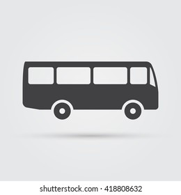 Bus icon vector, solid logo illustration, pictogram isolated on white
