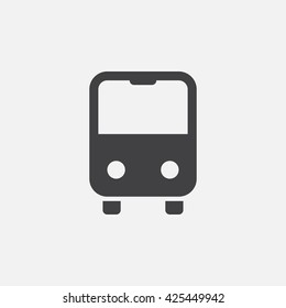 bus icon vector, solid logo, pictogram isolated on white, pixel perfect illustration