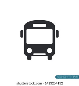 Bus Icon Vector Template Flat Design