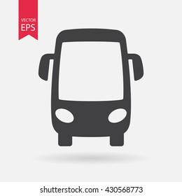 Bus icon vector, Transportation sign Isolated on white background. Trendy Flat style for graphic design, logo, Web site, social media, UI, mobile app, EPS10