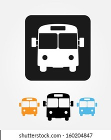 Bus icons set