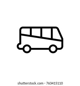 Bus line icon. High quality black outline logo for web site design and mobile apps. Vector illustration on a white background.
