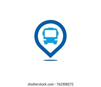 Bus located logo