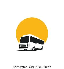 bus logo new concept, travell agency logo