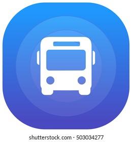 Bus Purple - blue circular UI/UX App Icon / Logo Design