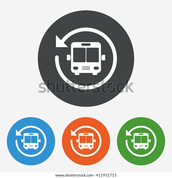 Bus Shuttle Icon Public Transport Stop Stock Vector (Royalty