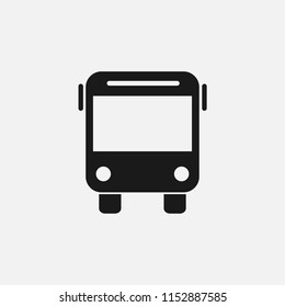 Bus sign icon vector.transport,trip,transportation,travel,vehicle,passenger,auto,traffic,tourist,road,tourism,tour symbol isolated icon for web and mobile app on grey background