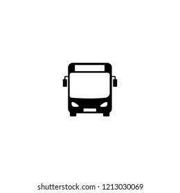 bus silhouette icon