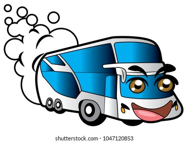 bus smile cartoon design