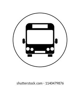 Bus stop icon, logo