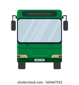 Bus Stop Icon. Vector illustration flat design