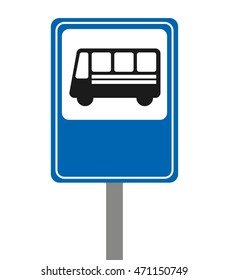 bus stop signal isolated icon vector illustration design