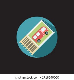 Bus Ticket vector icon - ticket vector