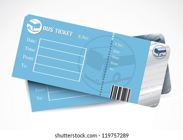 Bus tickets - vector illustration