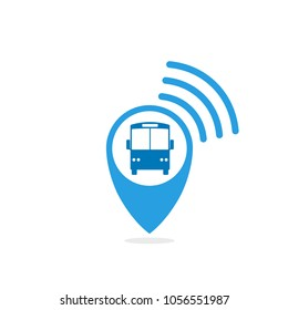 Bus tracking icon. Vector image isolated on white background