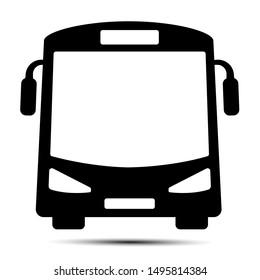 Bus traffic icon design concept on white background.