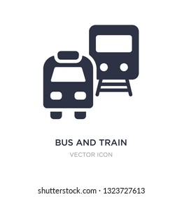 bus and train icon on white background. Simple element illustration from Transport concept. bus and train sign icon symbol design.