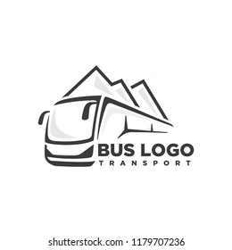 Bus, travel bus logo template