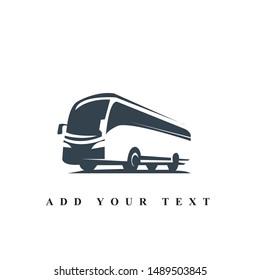 Bus traveling logo design and illustration vector art