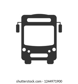 Bus vector icon. bus icon. Vector illustration. Isolated on white background