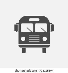 Bus vector icon for public transport school bus