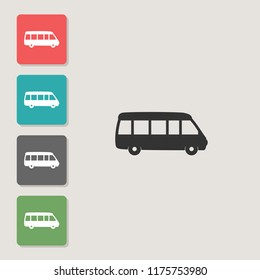 Bus - vector icon. Symbol for web, infographics, print design and mobile UX/UI kit. Vector illustration, EPS10.