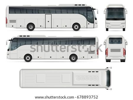 bus vector mockup advertising corporate identity stock vector