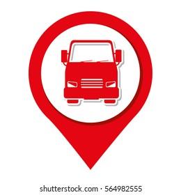 bus vehicle isolated icon