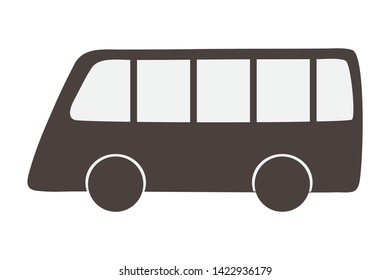 Bus vehicle silhouette design vector