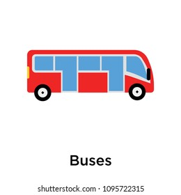 Buses icon isolated on white background for your web and mobile app design, buses vector logo concept