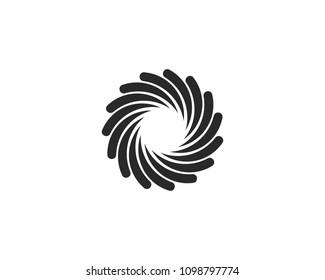 Busindess logo, vdrtex, wdve and spiral icon vector template